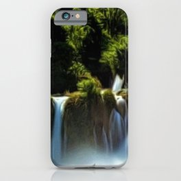 Krka Waterfall Landscape No. 1, Croatia iPhone Case