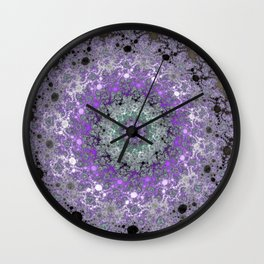 Fractal Wreath Wall Clock