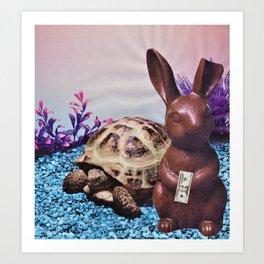 Chocolate Bunny Money Art Print