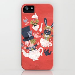 Mad Hatter's Tea Party - Alice in Wonderland iPhone Case