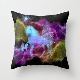 Ghostly Unicorn Throw Pillow