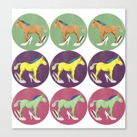 horses Canvas Prints featuring Horses by Lorenza Bluetiz