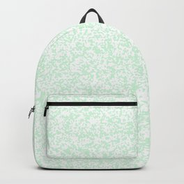 Tiny Spots - White and Pastel Green Backpack