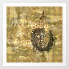 Buddha antique Art Print