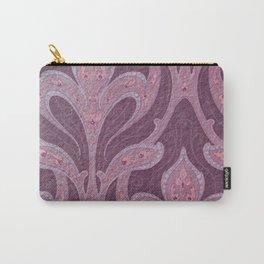 deep purple art nouveau pattern, chic,elegant,belle époque Carry-All Pouch