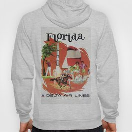 Vintage Airline Travel Poster - Florida Hoody