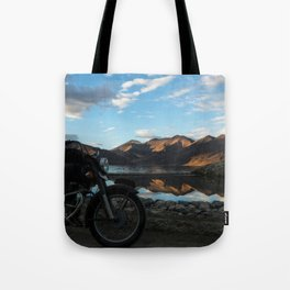 Lonely rider in the evening light...  Tote Bag