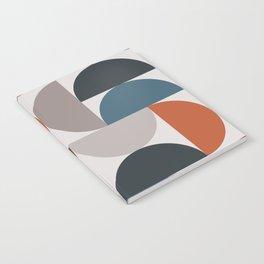 Mid Century Modern Geometric 25 Notebook