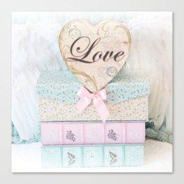 Love Heart Books Canvas Print