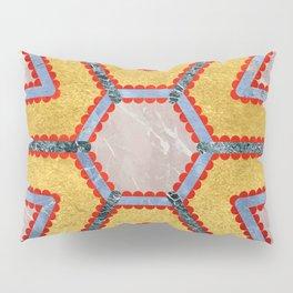 Golden Garnet Ornament (Premium Marble mandala) Pillow Sham