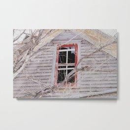 red frame, broken window Metal Print