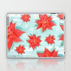 Red poinsettia #1 Laptop & iPad Skin