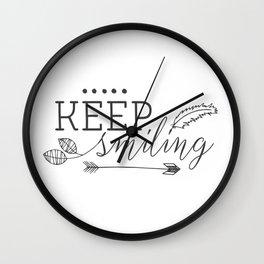 Keep smiling Wall Clock