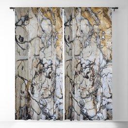 Natural Distressed Beach Drift Wood Textures Blackout Curtain