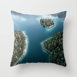 Lakeside Views at Sunset - Landscape Photography Throw Pillow