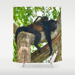 Momma Monkey & Baby Shower Curtain