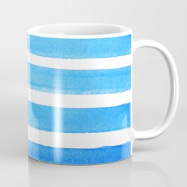 Blue Watercolor Stripes Coffee Mug