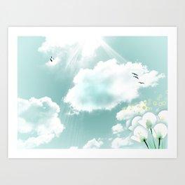 look at the sky Art Print