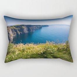 Sunny Cliffs of Moher, Ireland Rectangular Pillow