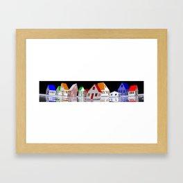 my little houses Framed Art Print