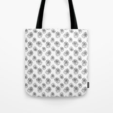 Rose Line Pattern Tote Bag