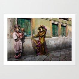 Venice Carnival Pair 2 Art Print