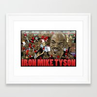 mike tyson Framed Art Prints featuring Mike Tyson by Adam Doyle