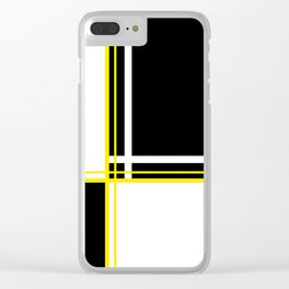 Mod 60's - White Yellow & Black Clear iPhone Case