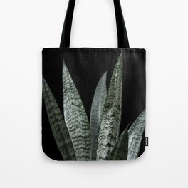 Snake plant with black Tote Bag
