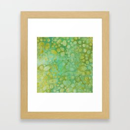 Green Batik 02 Framed Art Print