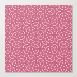 Geometric smoked-pink all-over pattern Canvas Print