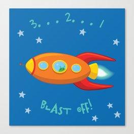 3, 2, 1, Blast Off!  Canvas Print