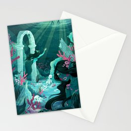Mermaids of the Black Lagoon Stationery Cards