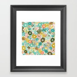 February Floral Framed Art Print