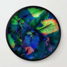Mahonia leaves Wall Clock
