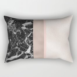 Marble in the night - rose gold Rectangular Pillow