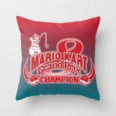 Mario Kart 8 Champion Throw Pillow