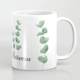 Eucalyptus polyanthemos leaves botanical illustration Coffee Mug