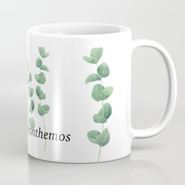 Eucalyptus polyanthemos leaves botanical illustration Coffee Mug