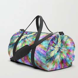 Colorful Tie Dye Watercolor Duffle Bag