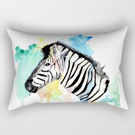 Watercolour Zebra Rectangular Pillow