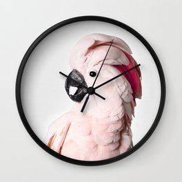 Pink Cockatoo Wall Clock