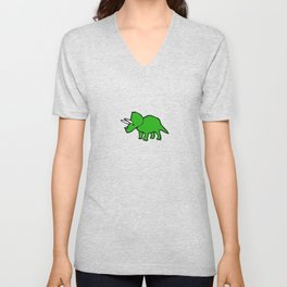 Cute Triceratops pattern Unisex V-Neck