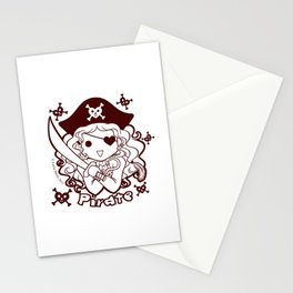 Kawaii Kiddies Cute Pirate! Stationery Cards