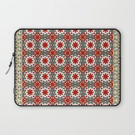 V12 Red Traditional Moroccan Rug Pattern. Laptop Sleeve