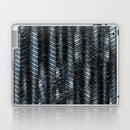 Alien Columns - Blue and Black Laptop & iPad Skin