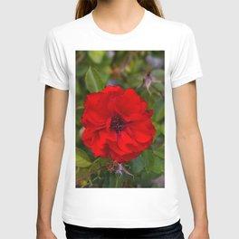 Vibrant Red Flower T-shirt