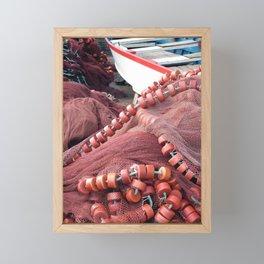 Fishing tools Framed Mini Art Print