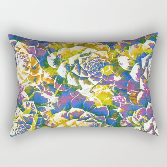 colored succulent in abstract way Rectangular Pillow