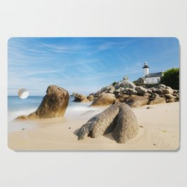 Lighthouse on Brittany Beach Cutting Board
